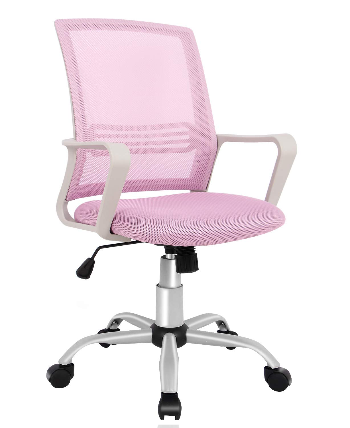 Office Chair, Mid Back Mesh Office Computer Swivel Desk Task Chair, Ergonomic Executive Chair with Armrests by SMUGDESK