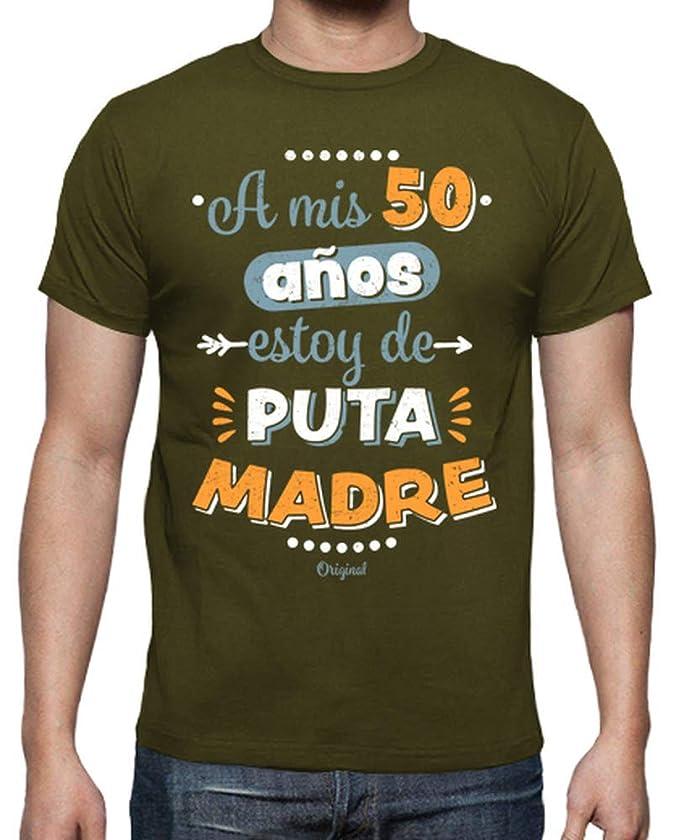 latostadora - Camiseta A Mis 50 Años Estoy de para Hombre