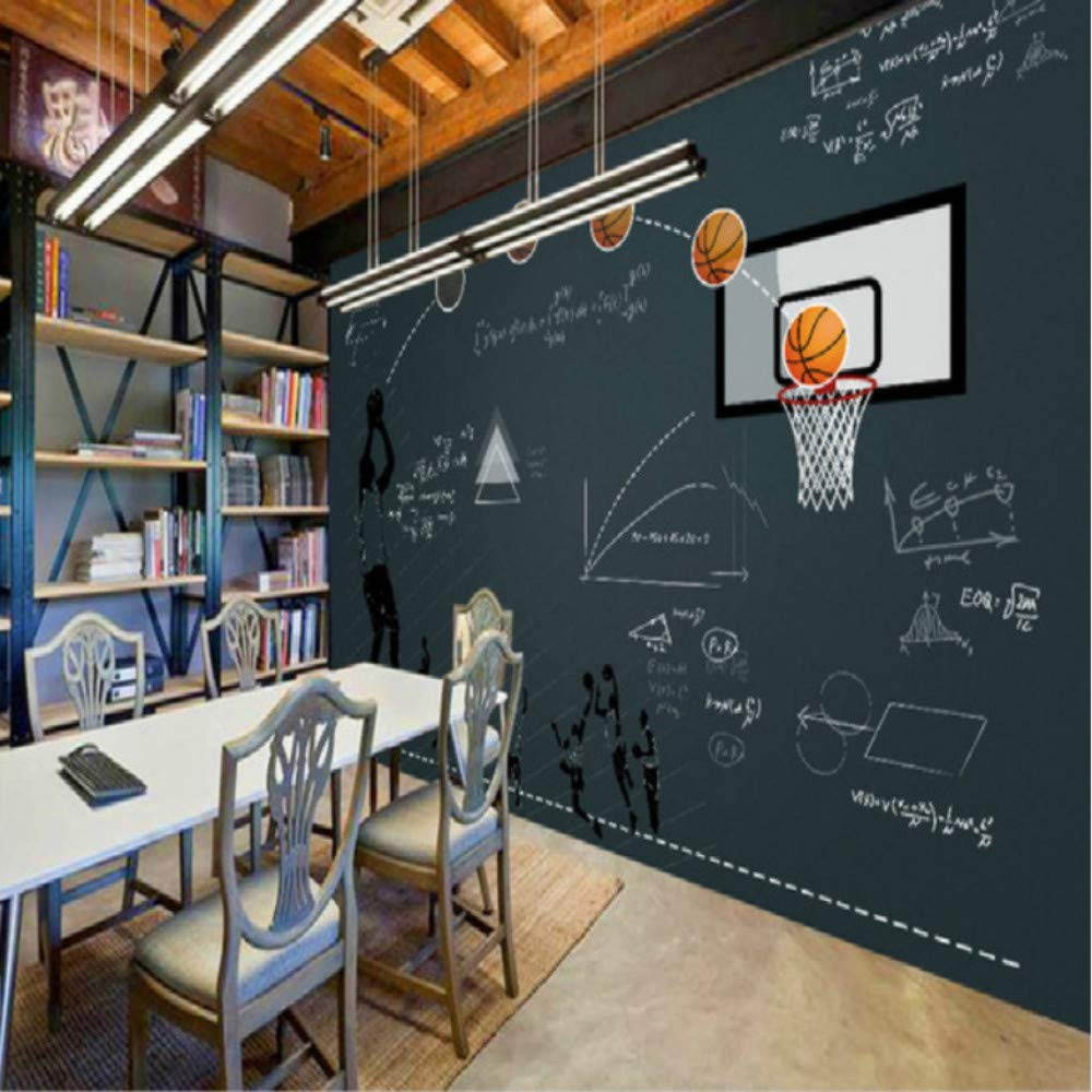 Hwhz Baloncesto Pizarra Función Restaurante Bar Gran Mural 3D ...