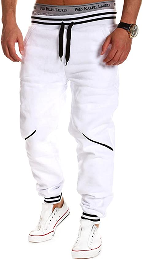 Teamyy Pantalones Chandal Hombre Casual Cintura Elástico ...