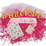Bachelorette Party Decorations - Bride and her Bride Tribe of High Quality and Perfect Accessories Kit. Desirable Pink Items for Women at a Bridal Shower. Information on What is Include