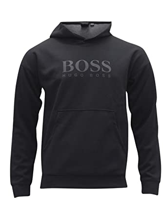 fc0c398ad Image Unavailable. Image not available for. Color: Hugo Boss Men's Fashion Long  Sleeve Hooded Black Sweatshirt ...