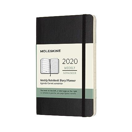 Agenda 2020 Semainier Poche Noir Souple