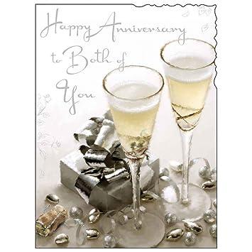 Carte Joyeux Anniversaire Jj1160 Deux De Vous Champagne Cadeau