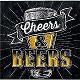Cheers and Beers Beverage Napkins, 48 Count