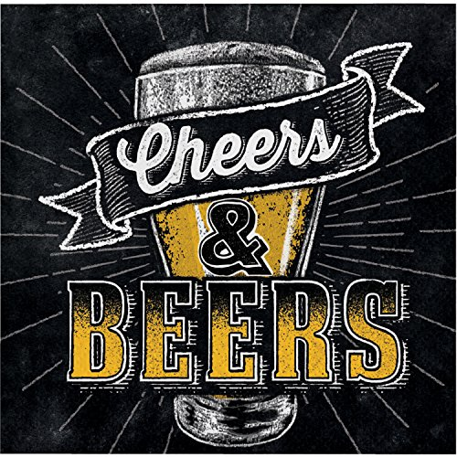 Cheers and Beers Beverage Napkins, 48 Count by Creative Converting