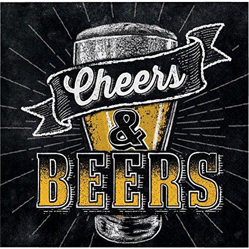 Cheers and Beers Beverage Napkins, 48