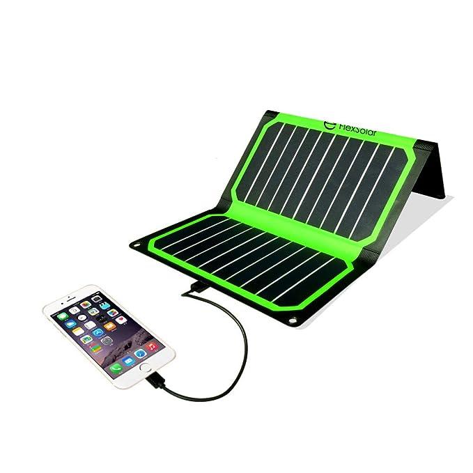 Flextech Cargador Solar Impermeable 16 W 16,5 V/5 V Salidas ...