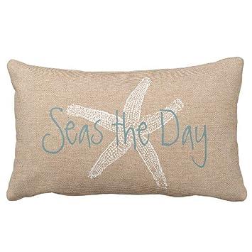 Amazon.com: Funda de almohada con diseño de estrella de mar ...