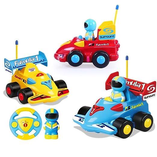 Amazon Com Children Racing Cars Cartoon Steering Wheel Remote