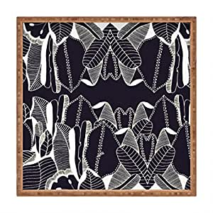 """DENY Designs Cayenablanca Duo Tone Indoor/Outdoor Square Tray, 12"""" x 12"""""""
