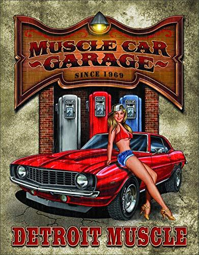 Jackgold phll Legends Muscle Car Garage Tin Sign