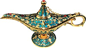 Sunmall Vintage Legend Aladdin Lamp Magic Genie Wishing Light,Collectable Rare Classic Arabian Costume props Lamp Tabletop Decor Crafts for Home/Wedding Decoration&Gift for Party/Halloween/Birthday