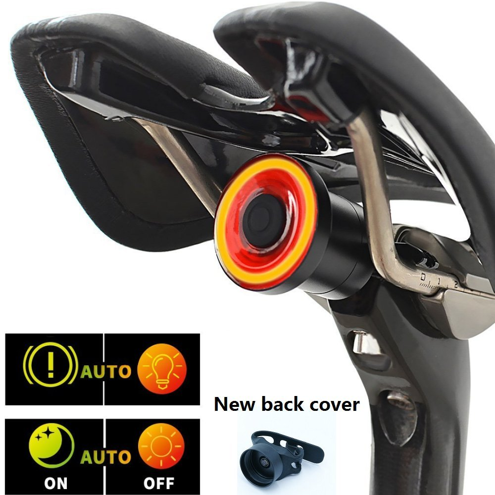 Eycocci Smart Bike Tail light USB Rechargeable TailLight,Auto Start/Stop,Ultra Bright, Brake Sensing, IPx6 Waterproof,Cycling Safety Commuter Light,Easy To Install