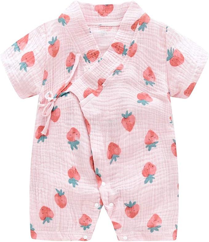Amazon.com: Pijama de bebé Kimono de algodón para recién ...
