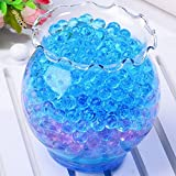 Magic water beads bulk 10000 pcs Crystal Mud blue Water crystal beads Orbeez Packs For Kids Boys Tactile Toys - Sensory Toys, Vase Filler, Crystal Soil, Plant decoration, Bamboo Plants ( blue )