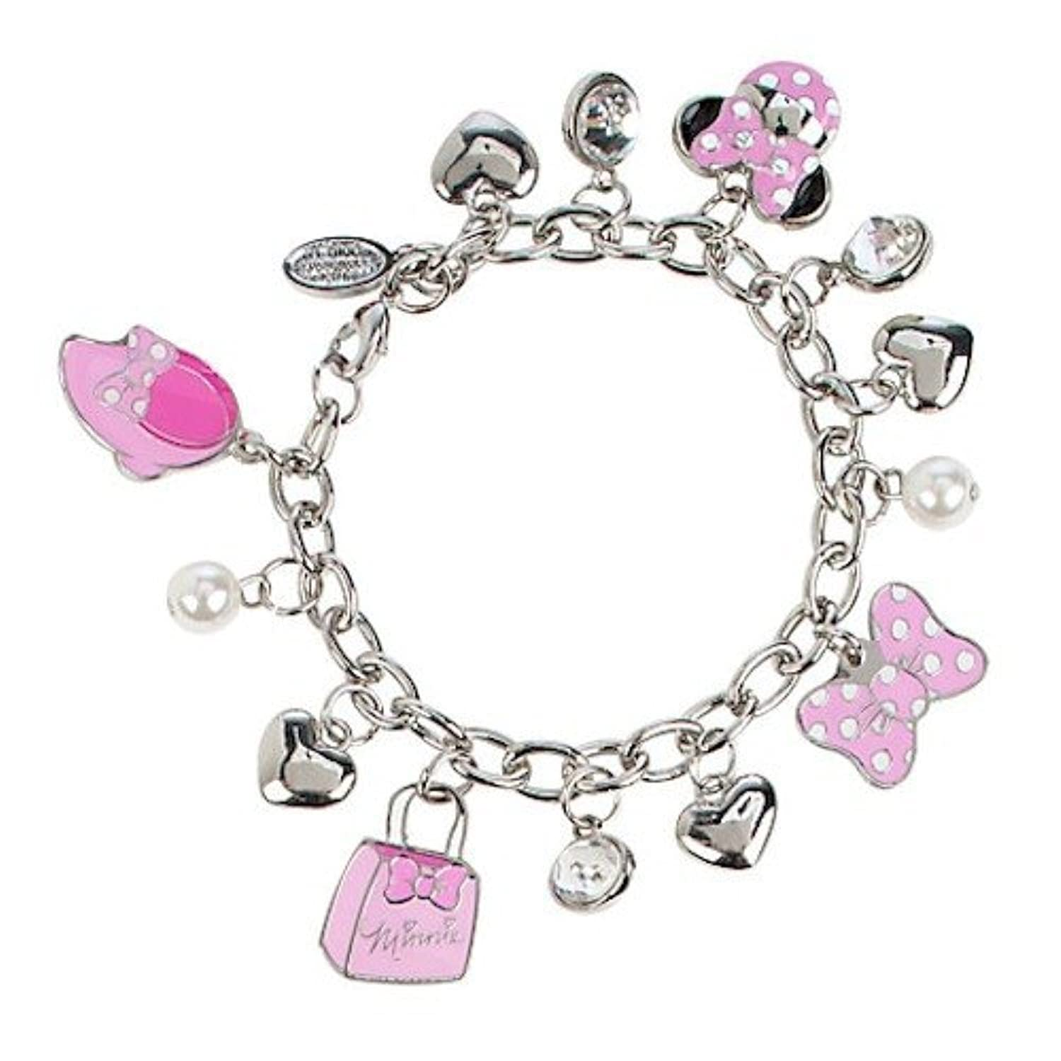 Amazon Disney Minnie Mouse Charm Bracelet Jewelry