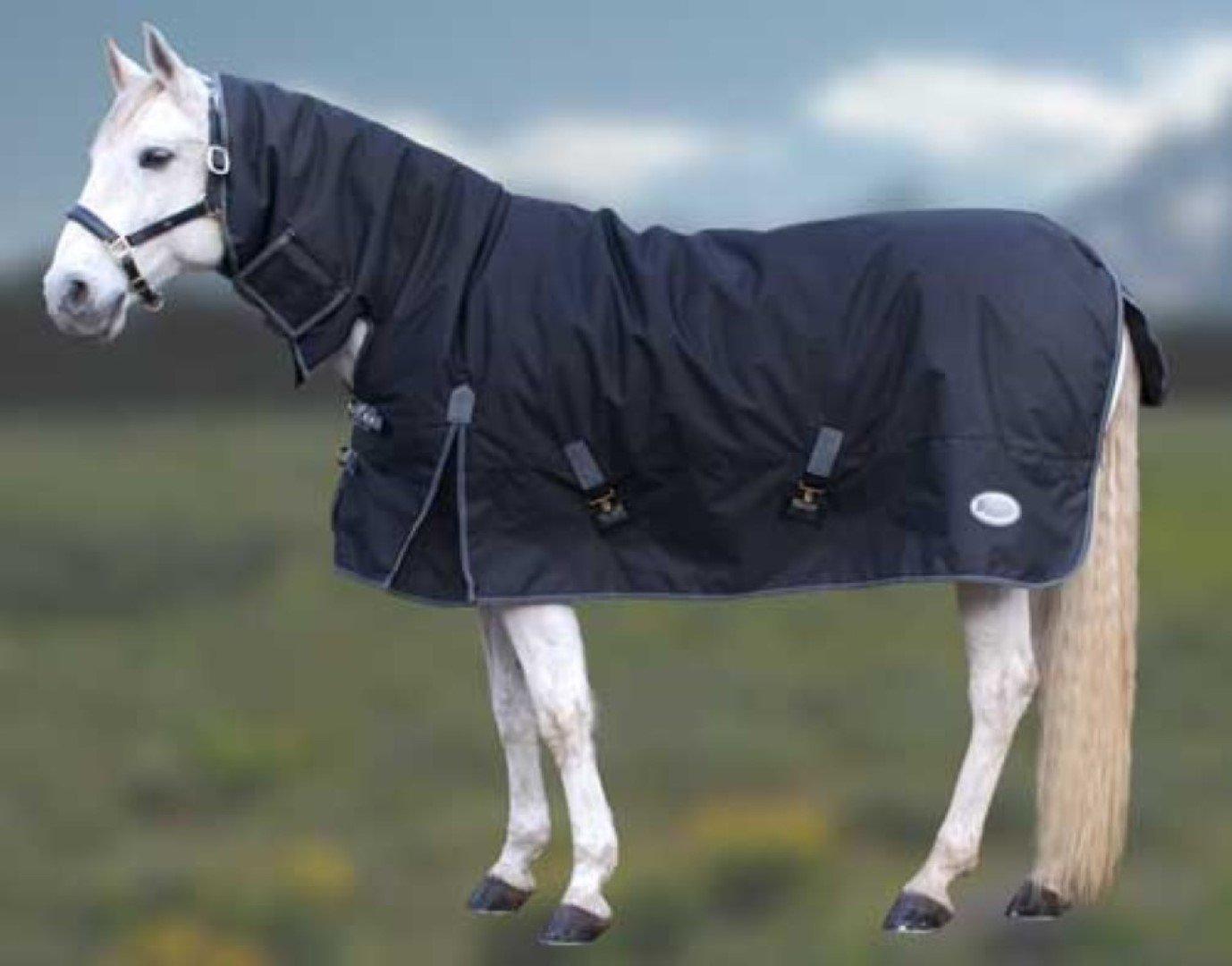 Burgundy black 6'0\ Burgundy black 6'0\ Rhinegold Full Neck Konig Outdoor Horse Rug
