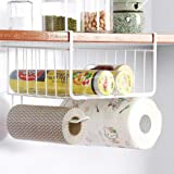 LWVAX® Multifunctional Storage Basket Kitchen Storage Rack Under Cabinet Storage Shelf Basket Wire Rack Organizer Storage Color:-White