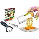 Newest & Improved Spiralizer Vegetable Slicer Complete Bundle - Best Vegetable Cutter - Zucchini Pasta Noodle Spaghetti Maker