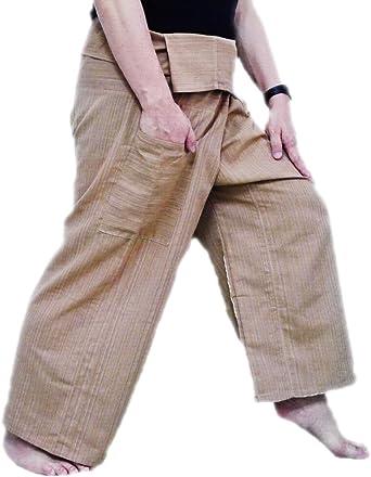 UNISEX 2 Tone Thai Fisherman Pants Yoga Trousers Free Size Cotton