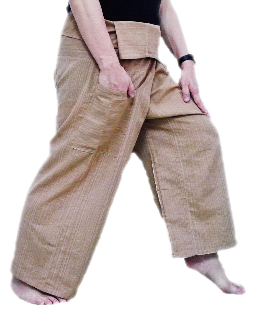 Pescatore tailandese pantaloni pantaloni Yoga formato libero Plus Size cotone Top quality authentic 100% Cotton Drill Gangaeng Chaolay Thai Fisherman pants for men and women! Super-comfortable and versatile- wear them for any occasion!
