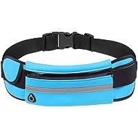 Adolenb Bolsa de Cintura de teléfono antirrobo Impermeable para Correr al Aire Libre con Orificio para Auriculares Riñoneras