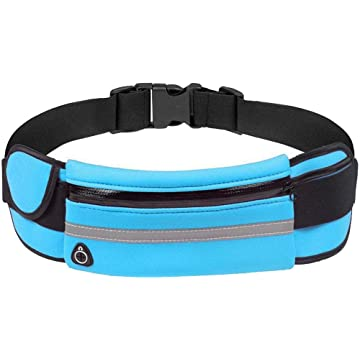 LEANO Outdoor Running Waterproof Anti-Theft Phone Waist Bag With Earphones Hole Waist Packs