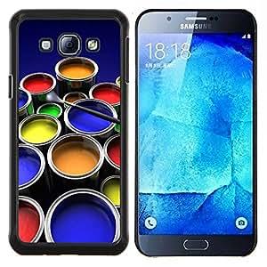 TECHCASE---Cubierta de la caja de protección para la piel dura ** Samsung Galaxy A8 ( A8000 ) ** --Kit de Pintura Arte gráfico del color Ollas Diseño