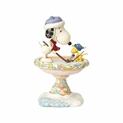 Peanuts By Jim Shore Snoopy And Woodstock Face Off Statue