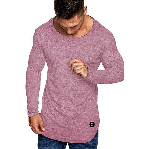 Rawdah_Camisetas De Hombre Manga Larga Camisetas De Hombres Camisetas De Hombre Tallas Grandes Camisetas De Hombre De Marca Camisetas Hombre Talla 4XL: ...