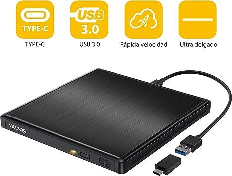 Unidad Externa Portatil con USB 3.0 (Negro): Amazon.es: Electrónica