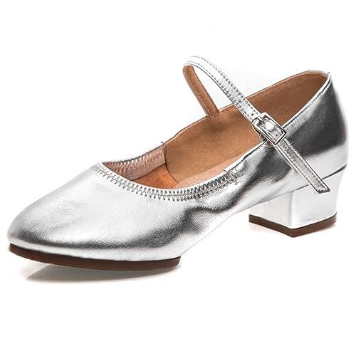 f899aae851d03 店舗  レディース ダンスシューズ 3cm フラメンコシューズ 舞台靴 パンプス 太いヒール ストラップ 社交ダンス