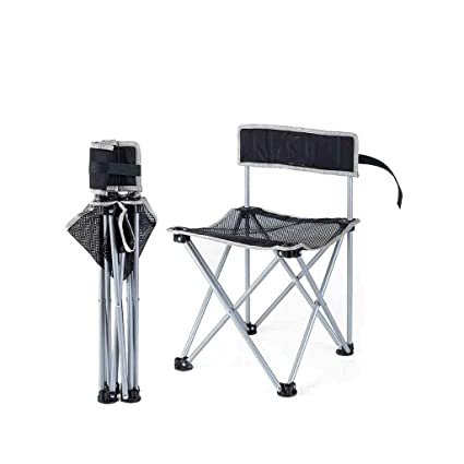 Amazon.com: Taburete plegable para silla de pesca, silla de ...