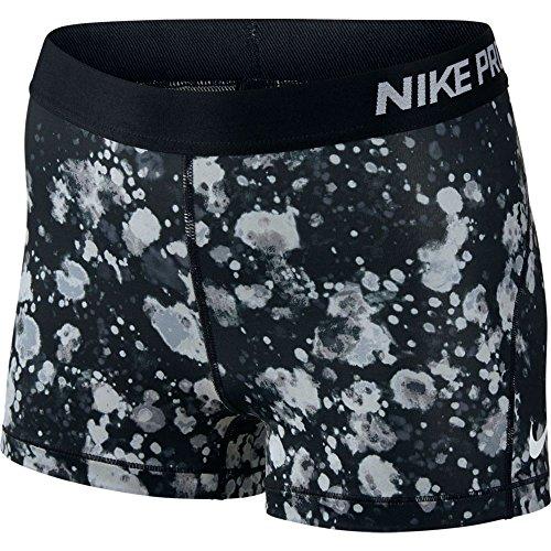 Nike Pro 3 Microcosm Womens Short (XS, Black/Black)