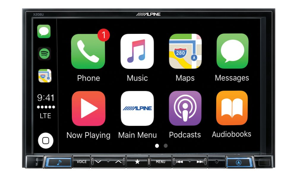 """Alpine Electronics X208U MECH-Less Dash System for Custom Installation or Use with Separate Alpine Vehicle-Specific Dash Kit, 8"""""""
