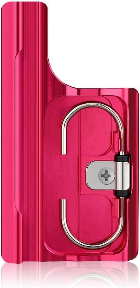 Sametop Aluminum Replacement Latch Rear Snap Lock Buckle for Gopro Hero4 Hero3+ Cameras Standard Waterproof Skeleton Housing (Red)
