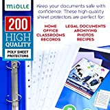 Sheet Protectors – Clear Plastic Sheets Protector 8.5 x 11 – Letter Size Sheet Protectors 11 Holes for Any Binder 200 Pack