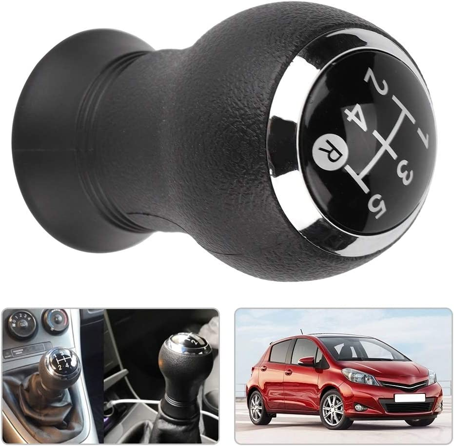 Ordinary Rockyin Car Modification 5 Speed Gear Shift Knob Head for Toyota Yaris 2005-2010