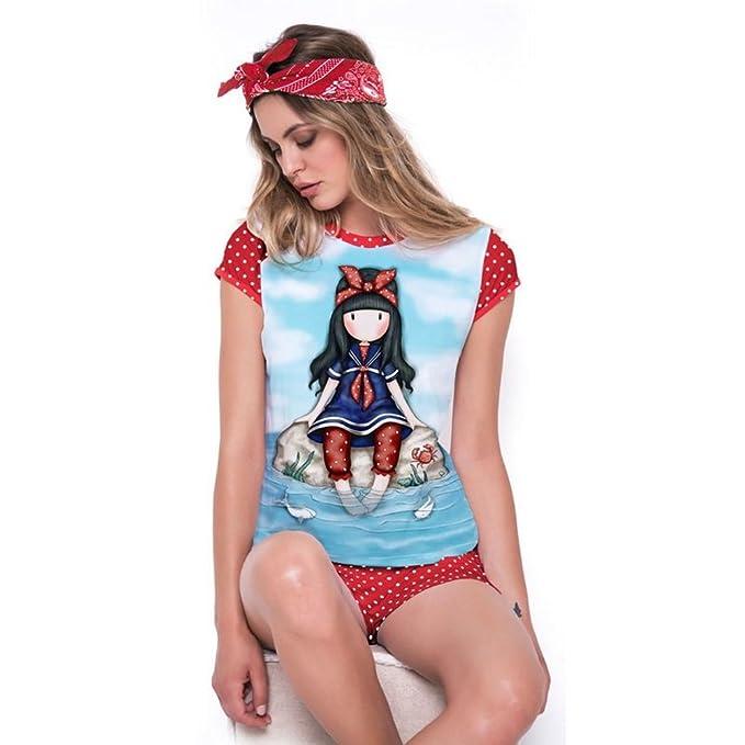 Santoro Pijamas Gorjuss Summer Woman PS 12996 Little Fishes (XS)