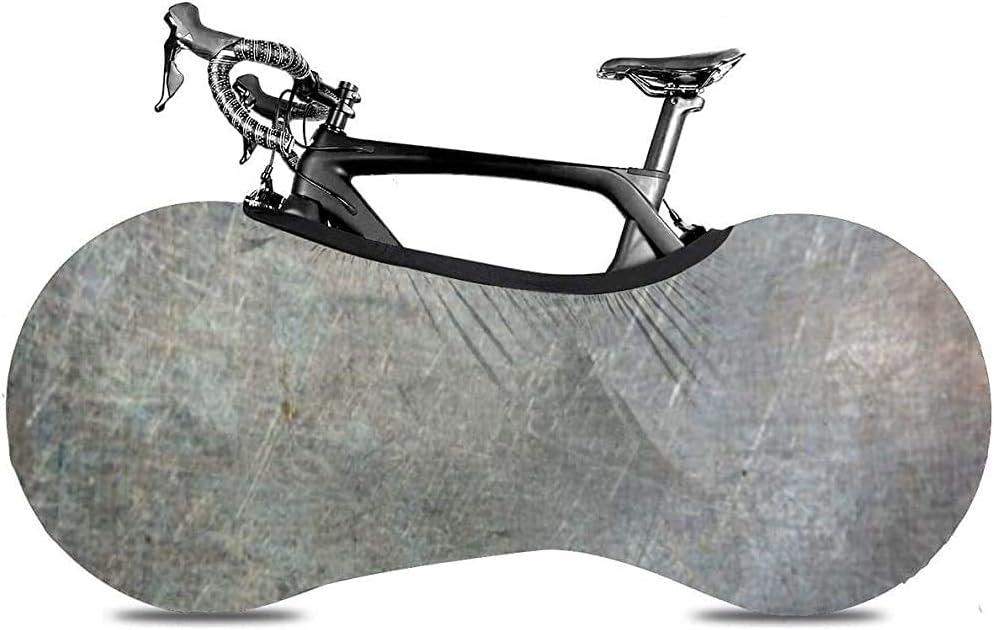 Cubierta de Rueda de Bicicleta, Cubierta de Bicicleta - Metal Oxidado Azul Rayado Sucio Oxidado Plateado