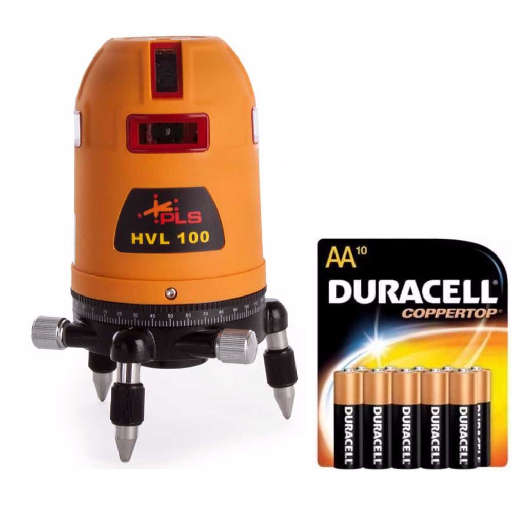 Pacific Laser Systems HVL100 Multi Line Laser w/ 10 Pack Duracell AA Batteries