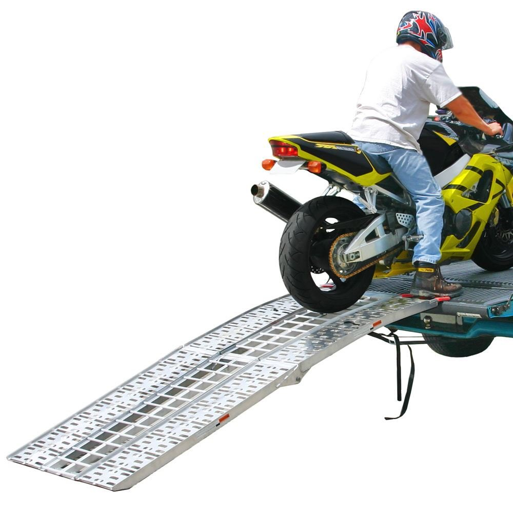 Black Widow 89'' Arched Folding Motorcycle Ramp System