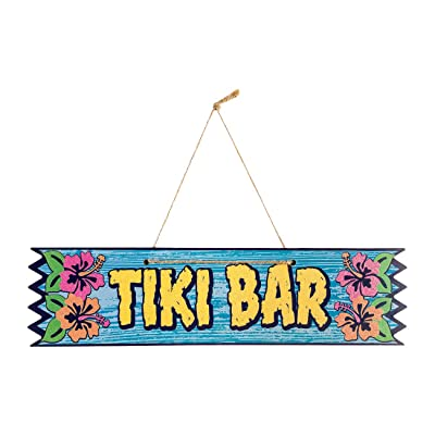 Forum Novelties X82792 Tiki Bar Plaque Multi-Colour: Toys & Games [5Bkhe2003329]