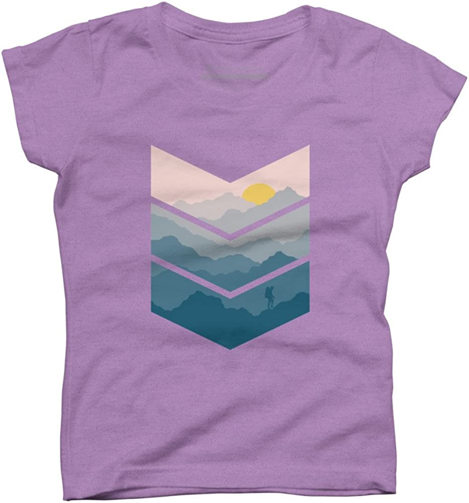 Design By Humans hiking Girls Youth Graphic T Shirt