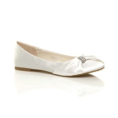 Ajvani Women's Flat Bridal Ballerina Shoes Size