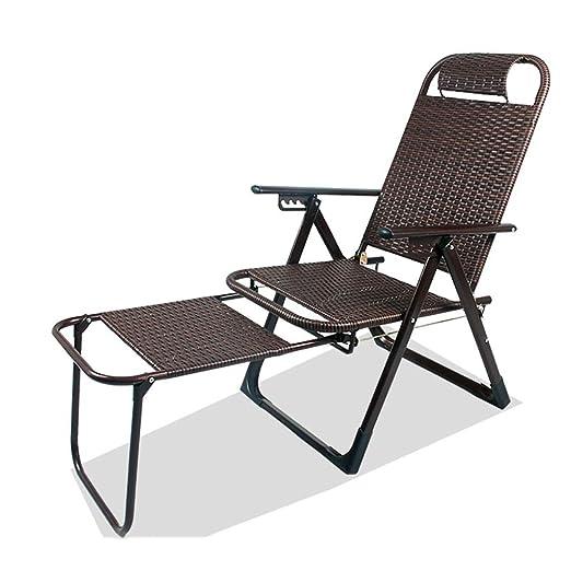 DYQTY Chaise de Camping en Plein Air Silla De Mimbre Sillón ...