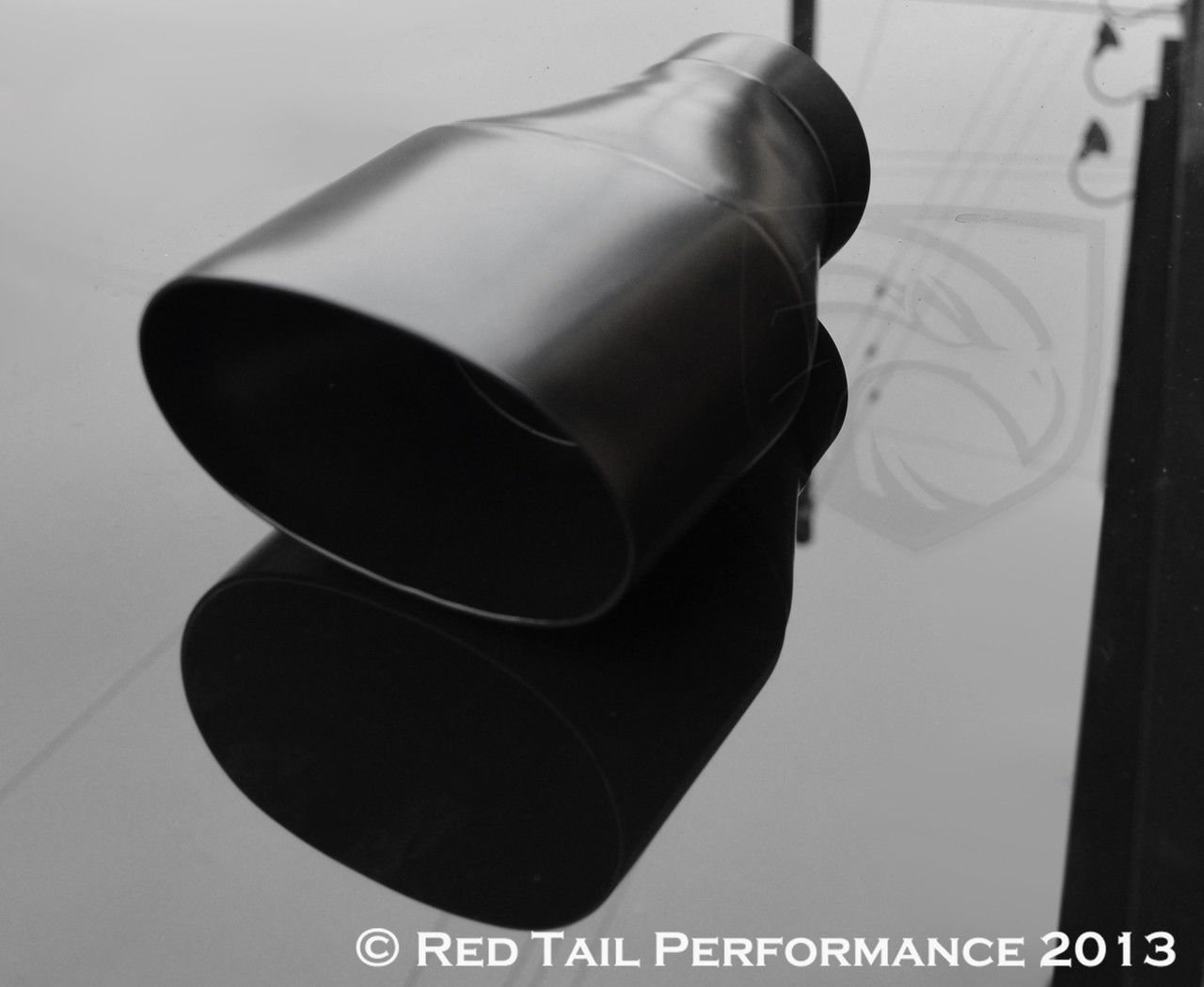 Black Powder Coated Exhaust Muffler Tip Oval Forward Straight Slash Cut Double Wall 3'' Inlet / ID, 5.5X3.5'' Outlet / OD