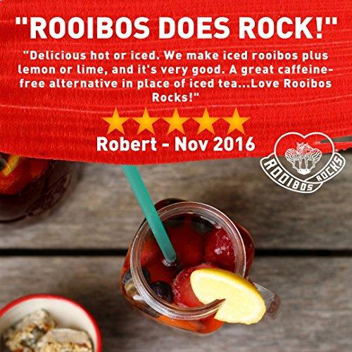 Rooibos Tea Organic Tagless Teabags - 100 South African Red Bush Herbal Tea Bags, By Rooibos Rocks (100ct) by Rooibos Rocks (Image #5)