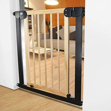 Baby Gate Puerta para bebés, puerta para bebés con seguridad de cierre automático, puerta para niños extra alta y ancha, puerta para perros para la casa, escaleras, puertas para 29.9